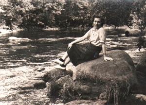 Mercè, en agosto de 1951.